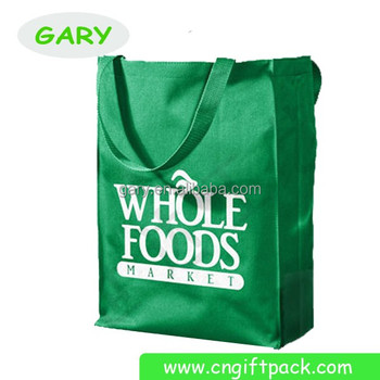 Green 80g Non Woven Polypropylene Budget Convention Large Tote Bags