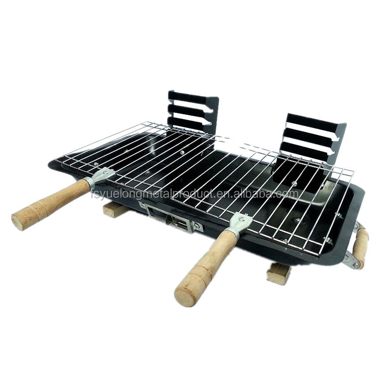 yl1012c double hibachi barbecue grill chine vente chaude en fonte barbecue charbon portable. Black Bedroom Furniture Sets. Home Design Ideas