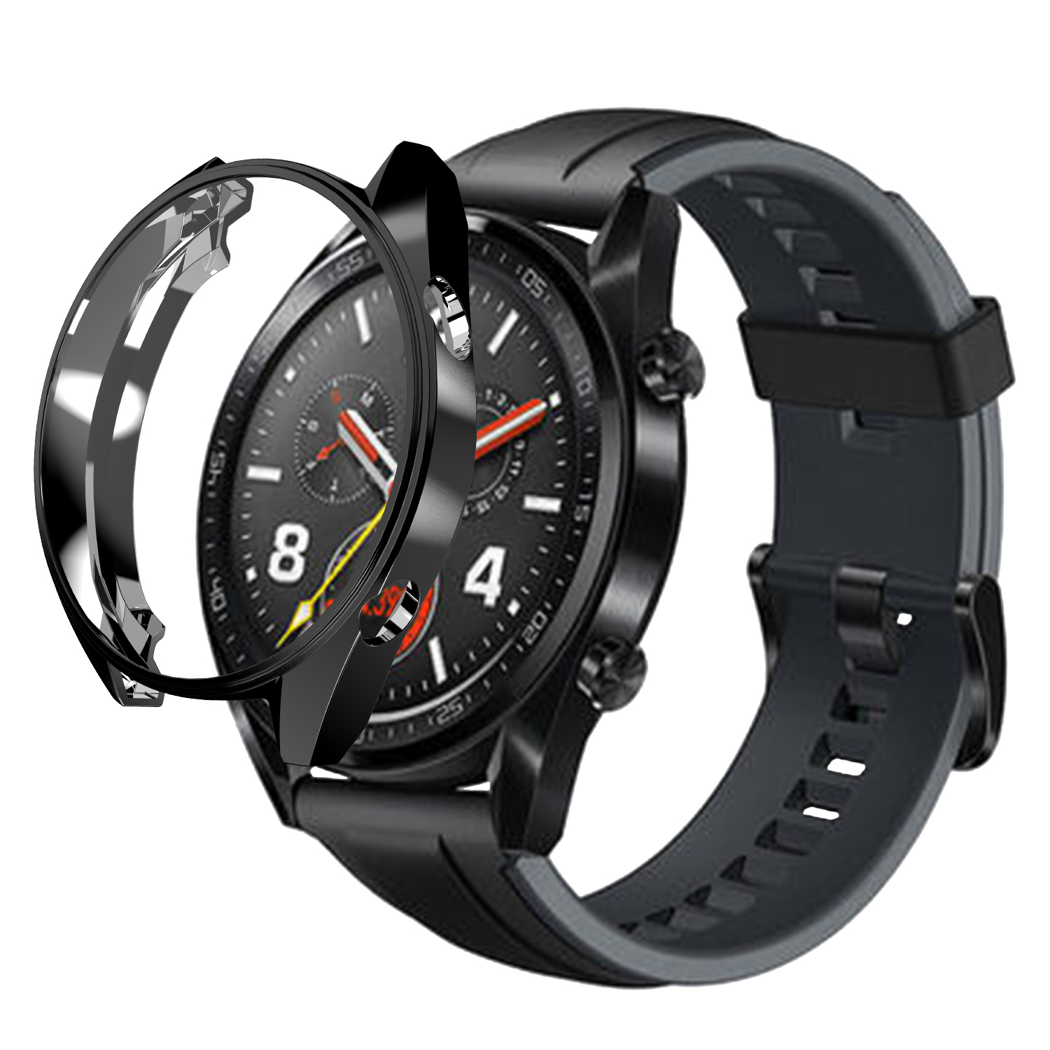 Chrome TPU Slim Smart Watch Protective Case Cover for Huawei Watch GT Cases Frame Anti-Scratch Shell Smartwatch Accessories