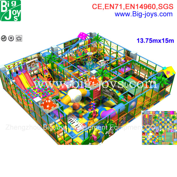 13.75x15 indoor playground equipment model BJ-GXIP16201