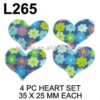 L265 STICKY SATIN-SPONGE SEAPE : HEART
