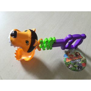 Funny Telescopic Manipulative Plastic Animals Clamp Small Animal Robot Hand Lion Toy