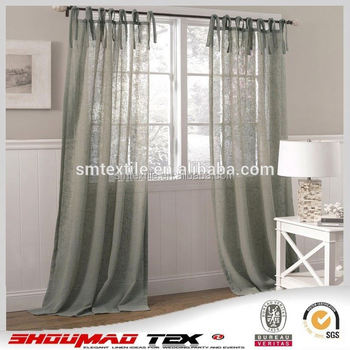 Good Quality Elegant Burlap Jute Living Room Curtains - Buy Elegant ...