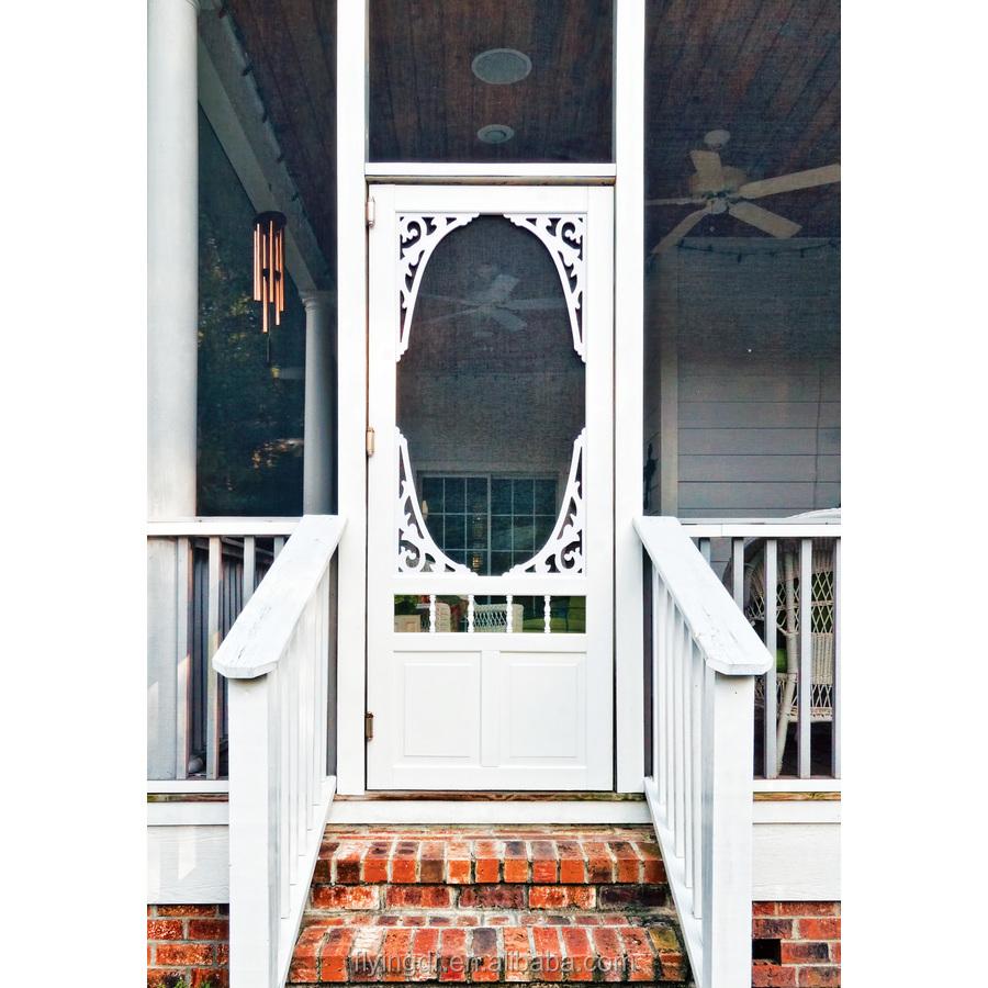 Georgian White Vinyl Hinged Decorative Screen Door   Buy Vinyl Hinged Decorative  Screen Door,Vinyl Screen Door,Screen Door Product On Alibaba.com