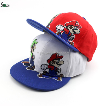 1559a0ed56427 two-tones children top level promotional cute cartoon printing inside strap  baseball snapback caps