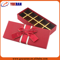 Unique design wedding favors gift chocolate box packaging wholesale, wedding door gift box bowknot