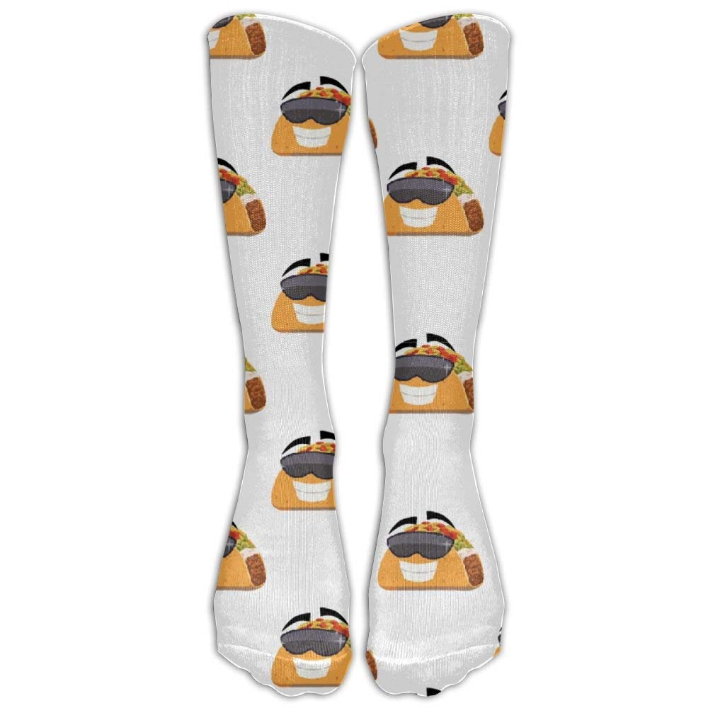 d8a3b05f469 Cartoon Mexican Taco Spandex Novelty Compression Knee Socks Smooth Sports  For Girls Cartoon Over Knee Long