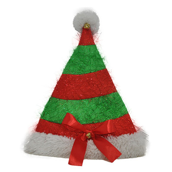 Plush Red And Green Funny Christmas Hat Ideas With Bowknot Buy
