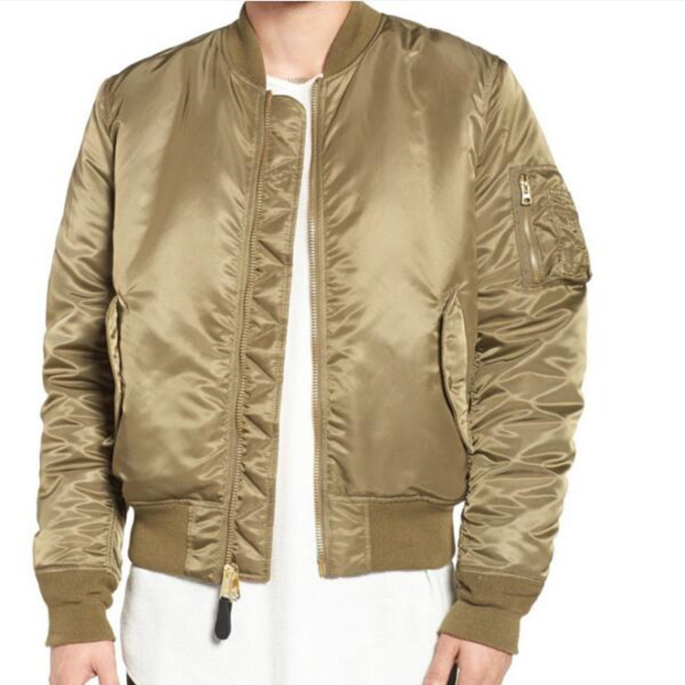 Custom Blank Plain Nylon Bomber Jacket Men Wholesale MA 1 Pilot Jacket