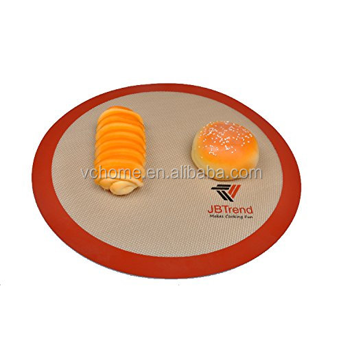 Wholesale 9'' silicone round backing mat for oven microwave cookie pizza sheet