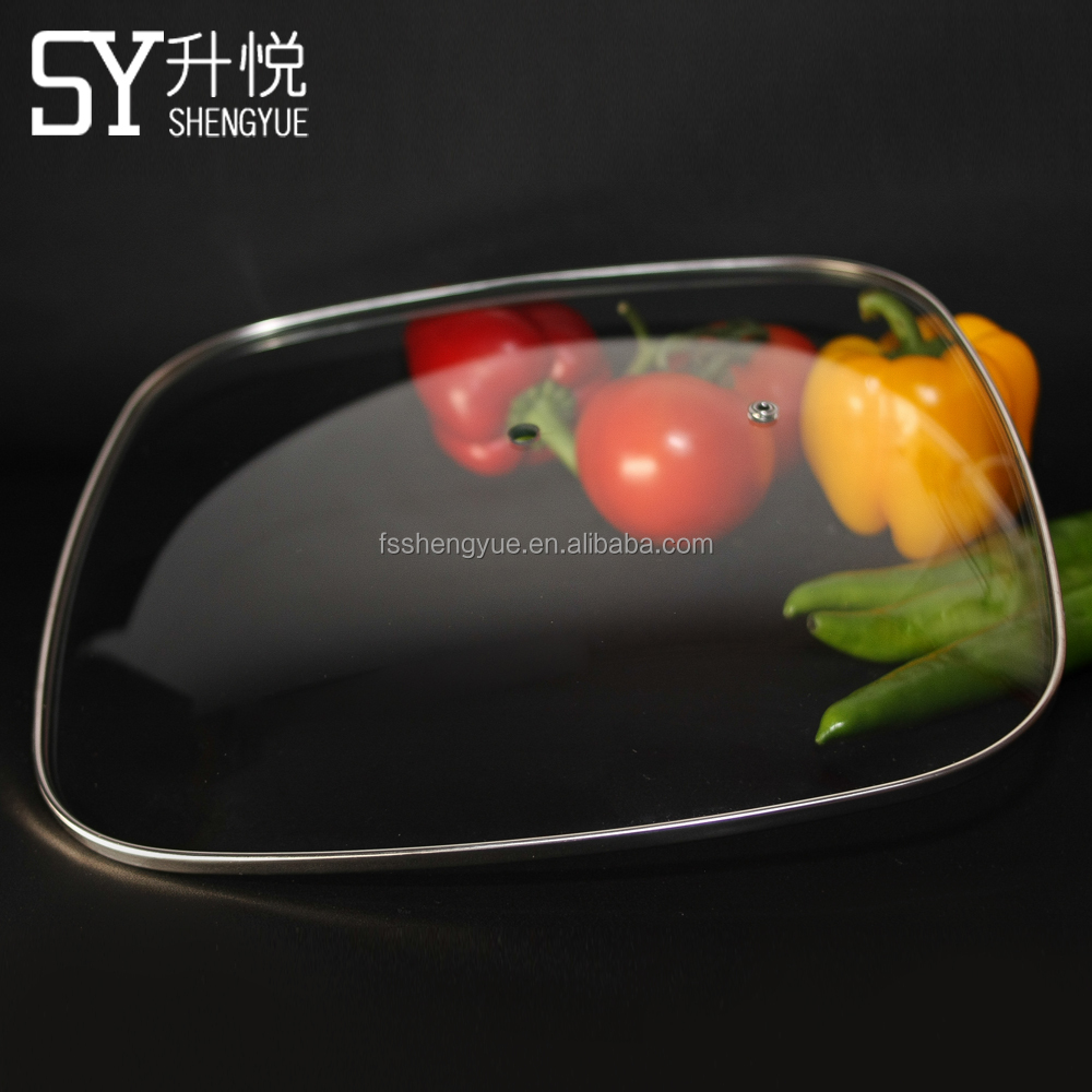 Fry Pan Square Tempered Glass Lid