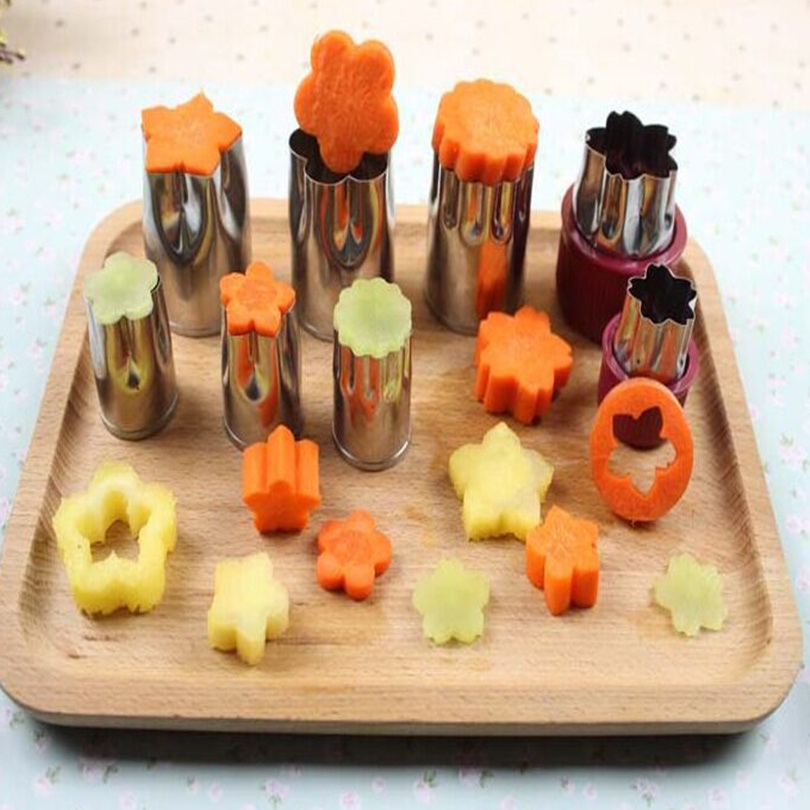 8 Pieces Sets Stainless Steel Flower Fruit Vegetable Cutting Dies Embossing Dies Pastry