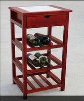 Wood storage bottle wine furniture/ wood cabinet rack