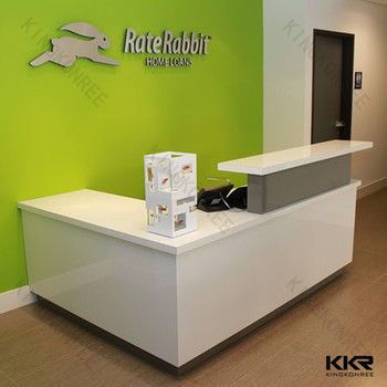 small simple design salon reception desk