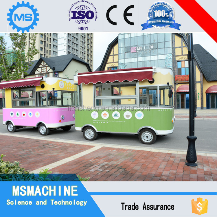 New design electric power supply street view food cart