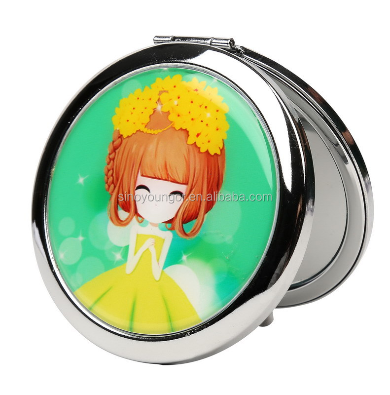 Professional hollywood style double sided makeup mirrors