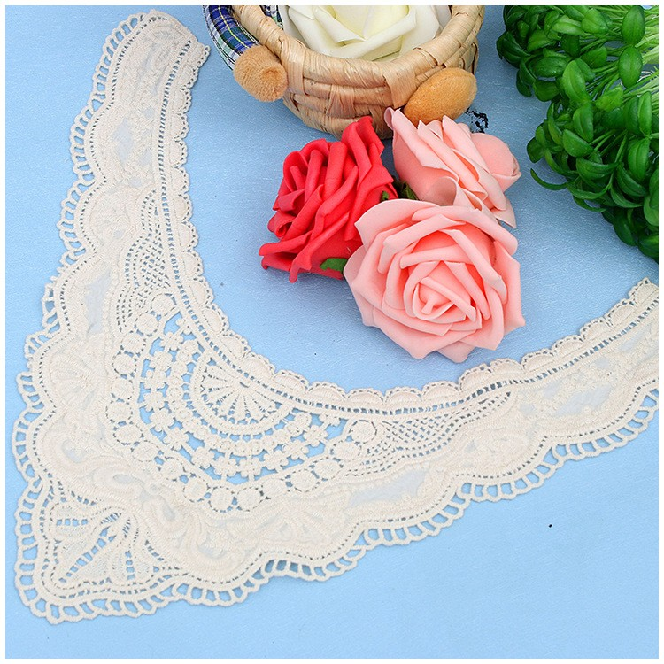 Decorative neck crochet cotton collar design embroidery lace for european market passing oeko text