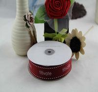 Print ribbon,satin ribbon,wholesale ribbon with English words on it