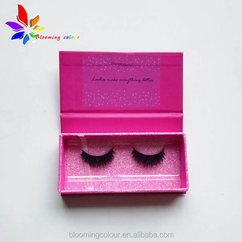 0a09dc8249d luxury hot stamp glitter paper gift eyelashes box private label eyelash  packaging