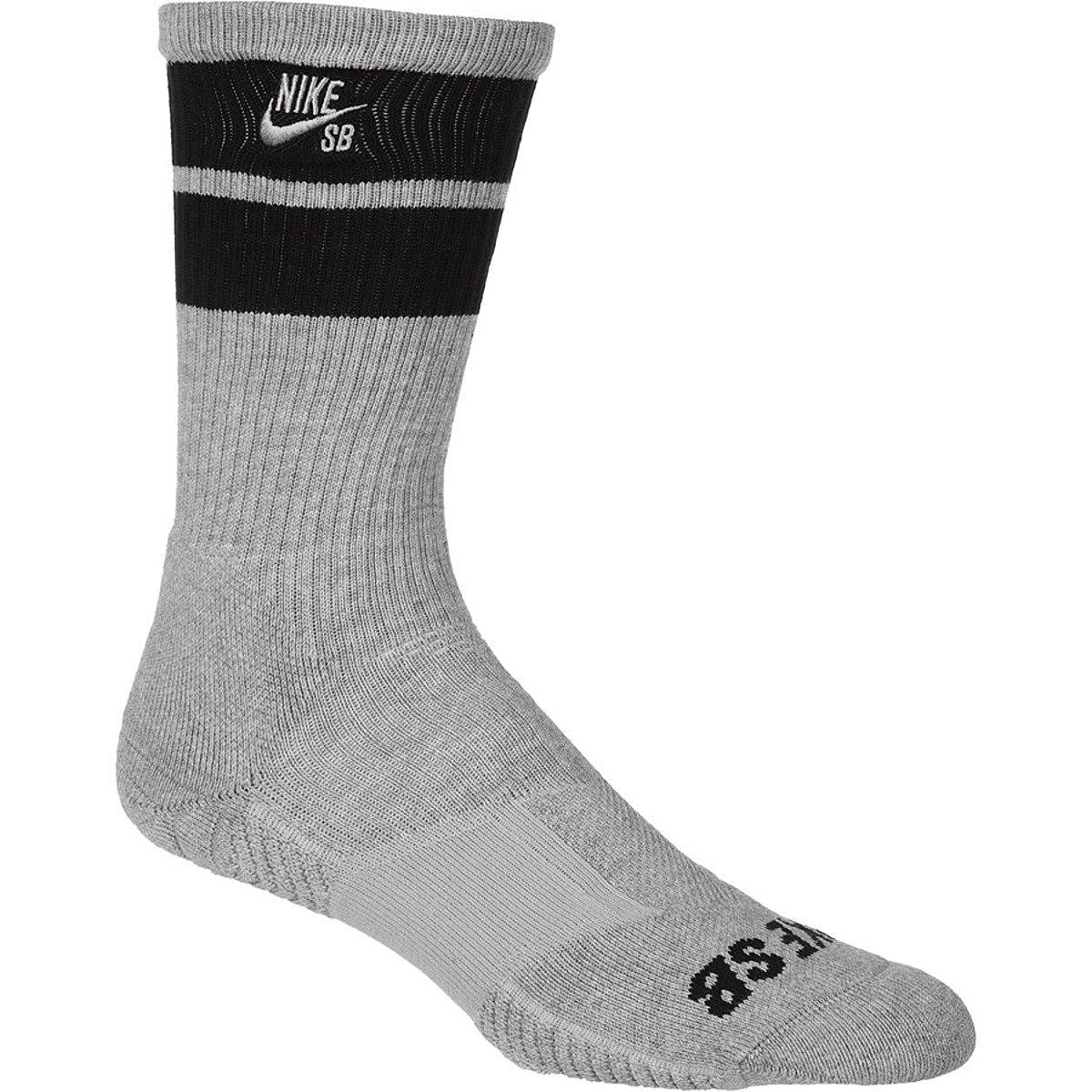 Nike Pony Sb Elite Crew Mens Sock Dark Grey Heather/Black/ Medium / 6-8