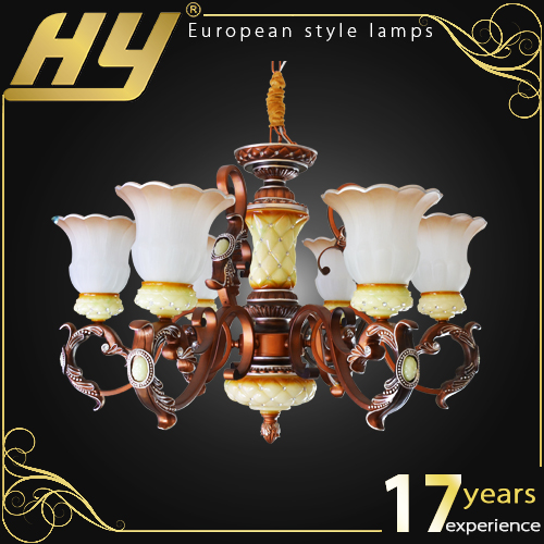 quality design painting indoor vintage glass pendant lamp