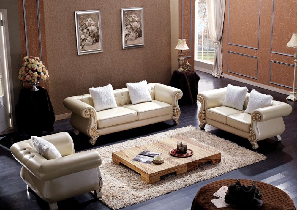 Lizz Chesterfield Sofa Suit Luxury Leather Sofa With