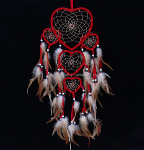 Wall hanging Decoration Heart Red Dream Catcher