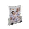 customized mini clear square acrylic photo frame with magnet