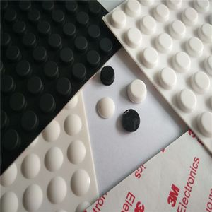 3M Round Silicone Rubber Feet Sheet With Strong Self Adhesive
