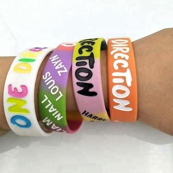 e92e02931dc71 Free Sample Custom Rainbow 100% Silicon Bracelet One Direction Band Cheap  Silicone Wristbands - Buy Funny Silicone Wristband,Cool Silicone Wristband  ...