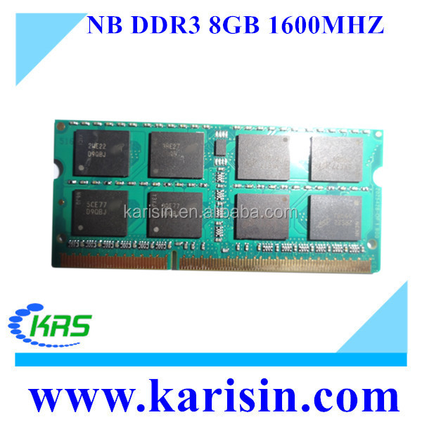 Factory price non ecc PC3-12800 1600mhz 1.35v 8gb ddr3 pc3l for laptop