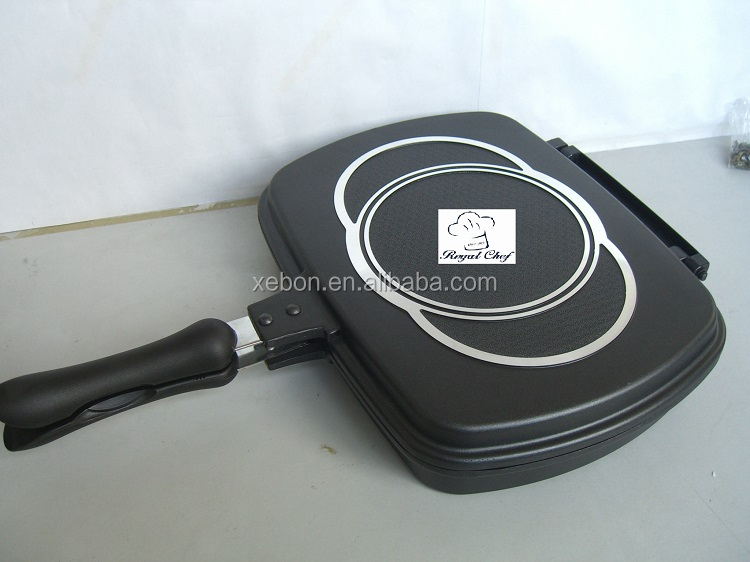 Cast Aluminum Non Stick Double Sided Skillet with Ceramic Coating