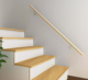 round timber handrail for indoor steps /wood handrail design/wood modern home handrail for interior stairs