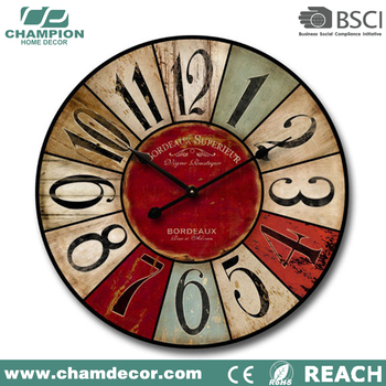 Wood Craft Atomic Funny Wall Clock Decoration 24 Inch Mdf Art