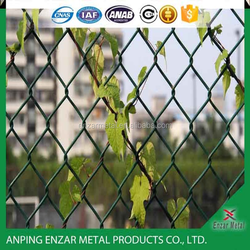 Animal hot dipped Galvanized Chain link fence