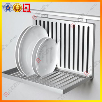 Stainless 3 Tiers Dish Drying Rack Drainer Dryer Tray Kitchen Rv Plate Organizer