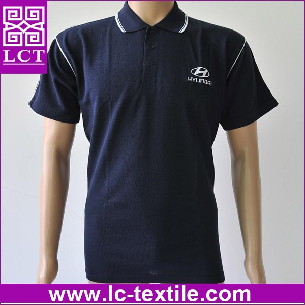 Recommend unique design 100% cotton solid colored motorcycle polo shirts featuring Rib knit crew neck(LCTT0178)