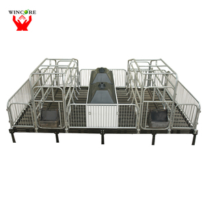 Pig pen for pig farming construction of floor slat/pig farrowing crate