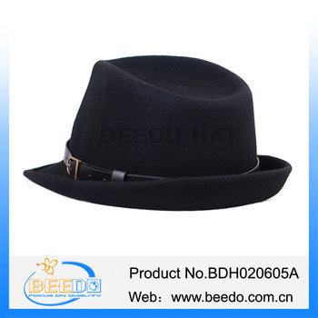 Wide Brim Upturn Fedora Crushable Felt Hat - Buy Fedora Crushable ... ee37b27ba18