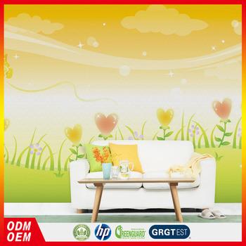 warme farben malerei, heart-shaped flower design tapeten wandbilder warme farbe malerei, Innenarchitektur