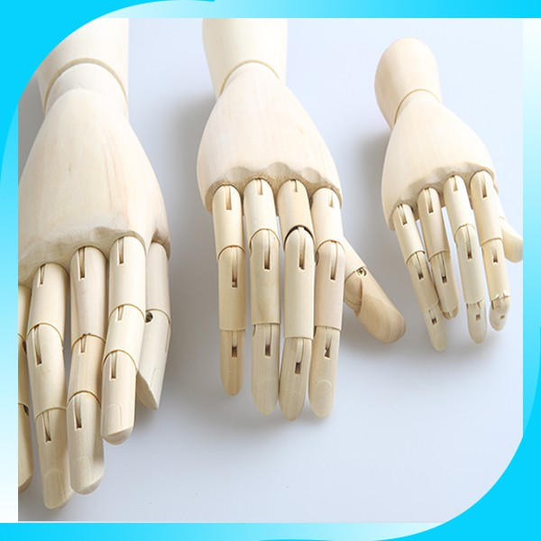 2015 Hot Selling <strong>Wooden</strong> hand Models For Woman Gloves and Children Toys