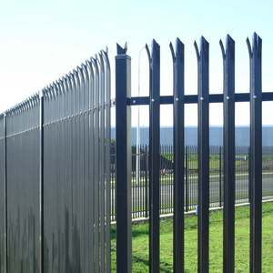 Decorative Steel PVC Coated Palisade Garden Europe Fence