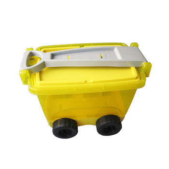 ECO Friendly Waterproof Plastic Drawer Storage Box With Wheels