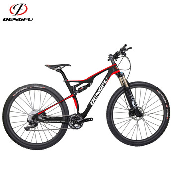 Dengfu New full suspension carbon mountain bike frame, 142x12 complete 29 mountain bike