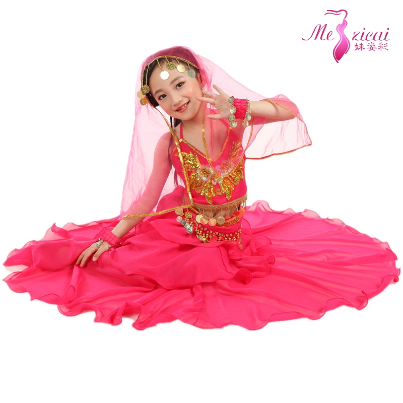 7edfda432bf Child indian dance clothes indian dance belly dance costume set layered  dress set