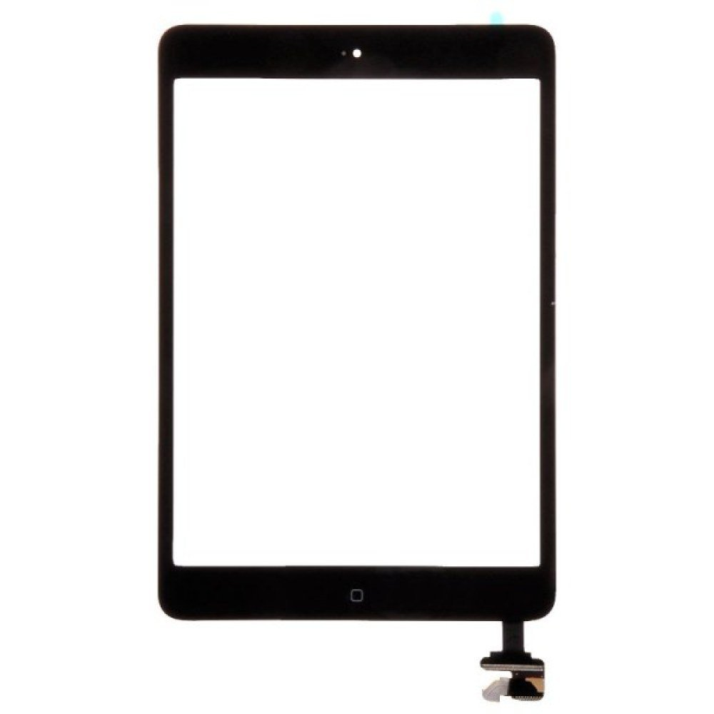 Digitizer & IC Connector (Pre-Soldered with Adhesive & Resistors) for Apple iPad Mini (Black) with Glue Card