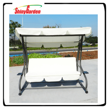 Shinygarden Covered Outdoor Porch Swing/bed With Frame - Buy 3 Seat ...