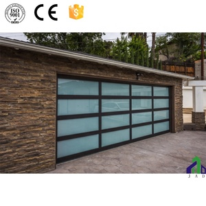 black frame remote control sectional glass garage doors prices