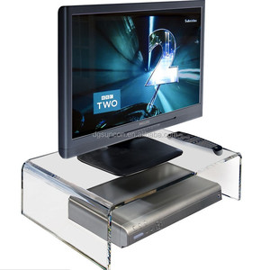 High Quality Factory wholesale Clear Acrylic Modern TV or Monitor Riser Stand