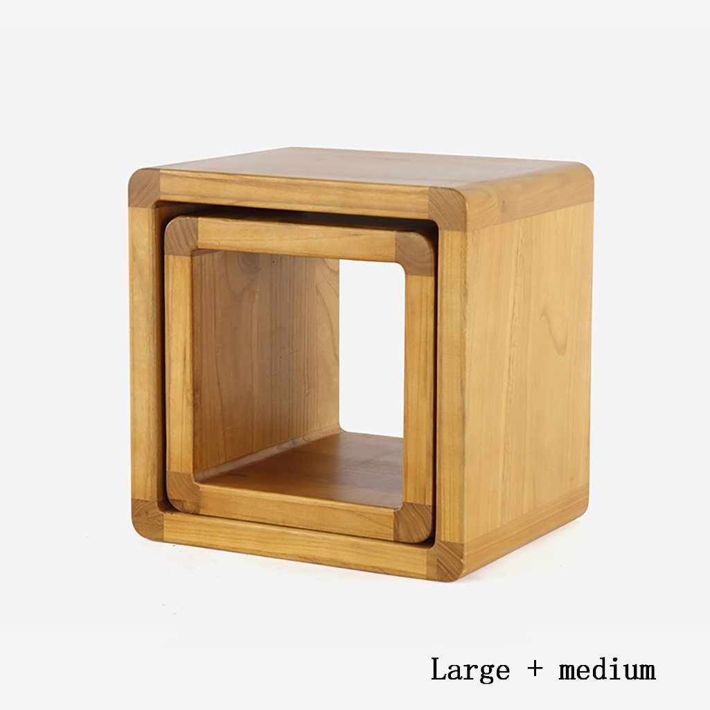 AIDELAI Stool chair Parent-child Stool Chair Japanese Home Creative Wood Coffee Table Small Round Stools Changing His Shoes Stool Stool Children Stool Chair Saddle Seat (Size : M+l)